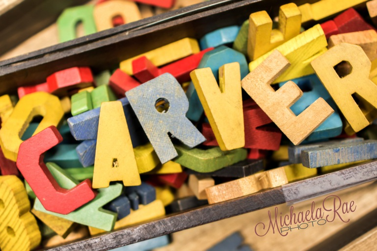 CARVER Junk Company | Michaela Rae Photography | Vintage Block Letters