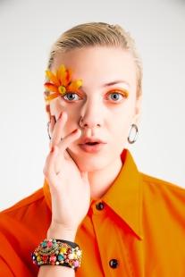 1 Neon Orange Pop Culture